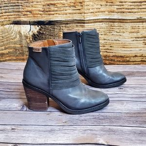 Pikolinos Alicante Lead Grey Heeled Ankle Boot 37